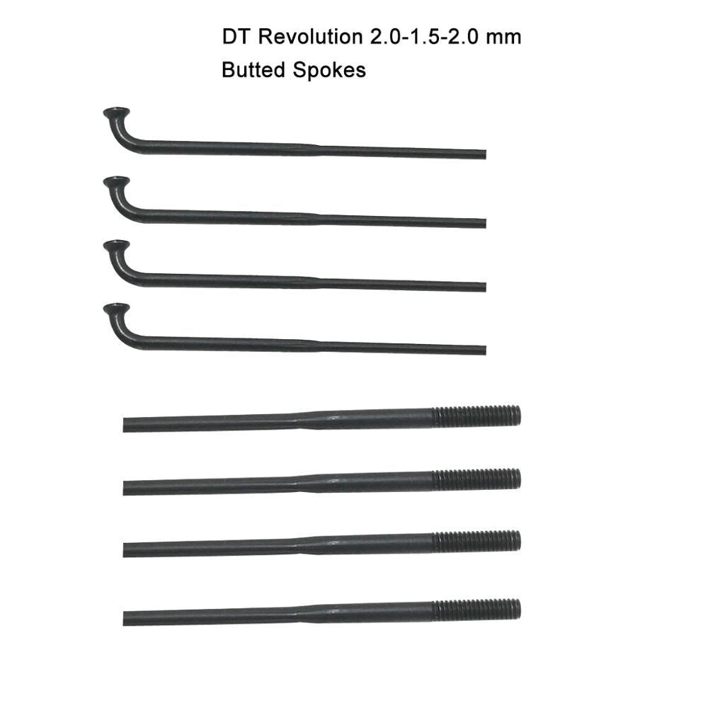SALE 305 DT SWISS REVOLUTION 2.0-1.5-2.0 STRAIGHT PULL 22 SPOKES BLACK STAINLESS