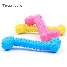 New Dog Toys Rubber Chew Durable Bone Puppy Interactive Toys Teeth Training Cleaning Molar Toy Non-toxic Kitten Dog Accessories us pawise stick vocal utterance bone elasticity books molar dog interactive toys