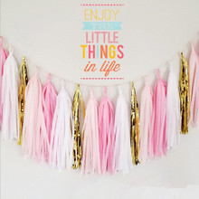 Paper Tassels DIY Tissue Bunting Wedding Birthday Garland Party Props Decorations 26colors in stock.