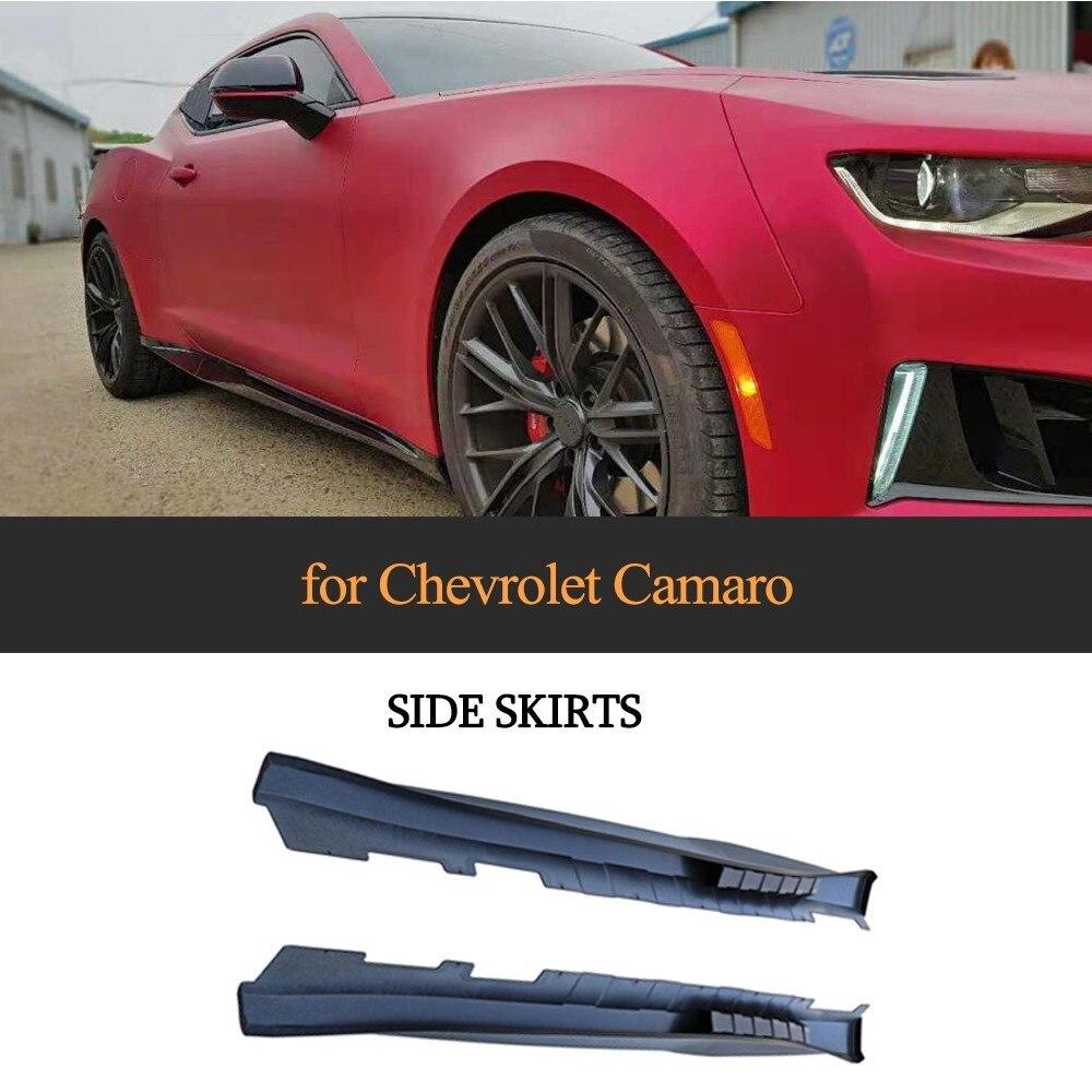 Ernstig Side Rok Voor Chevrolet Camaro 2017 Coupe 2 Deur Side Bumper Lip Pp Materiaal Auto Bodykit Modieuze (In) Stijl;