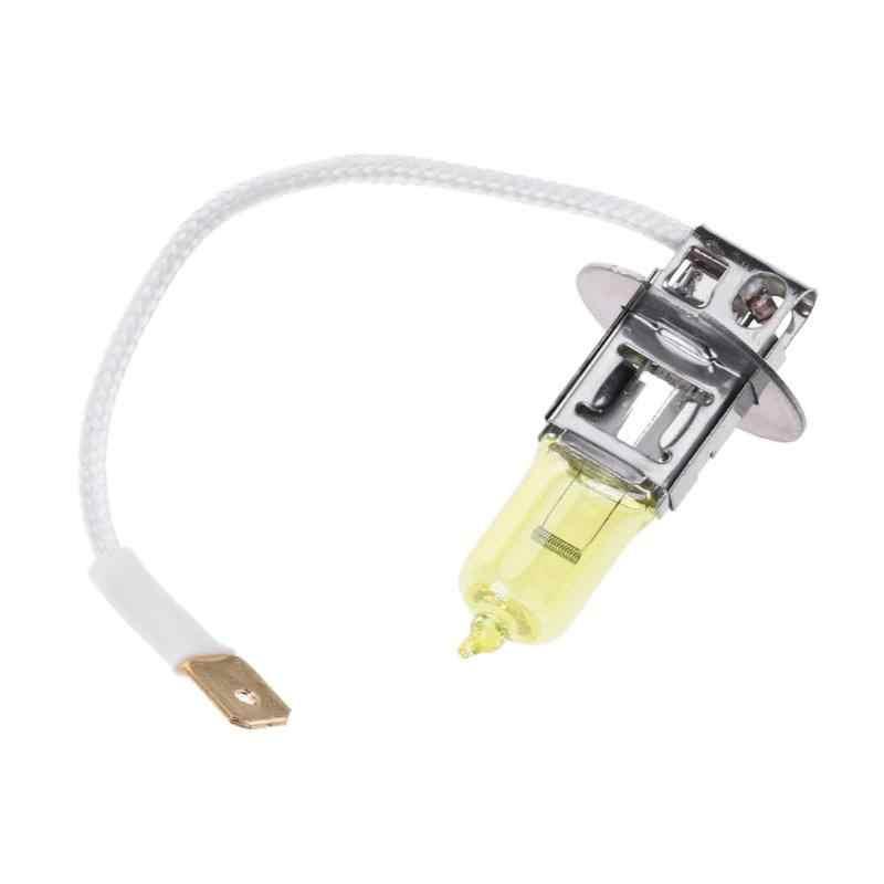 1 pc H3 12 V 12 V 3000 K automóviles Auto de la cabeza de la lámpara halógena bombilla de luz antiniebla faros faro para auto productos amarillo