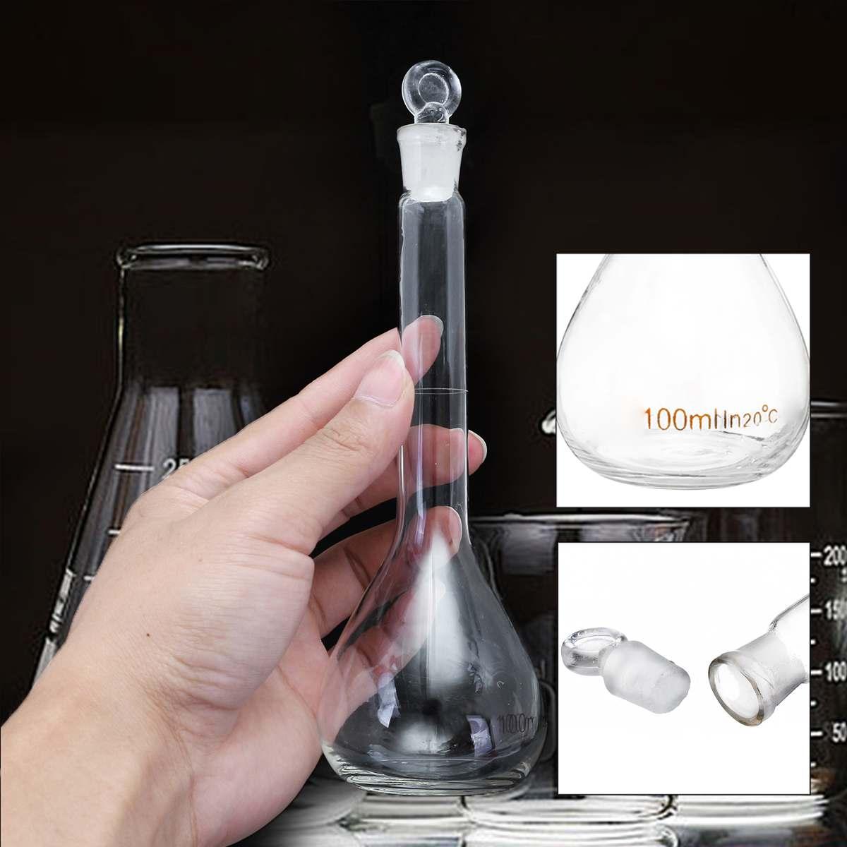 5-100 мл прозрачная лабораторная коническая колба из стекла, научная стеклянная колба Erlenmeyer, безопасная стеклянная посуда, лабораторная школьная исследовательская поставка