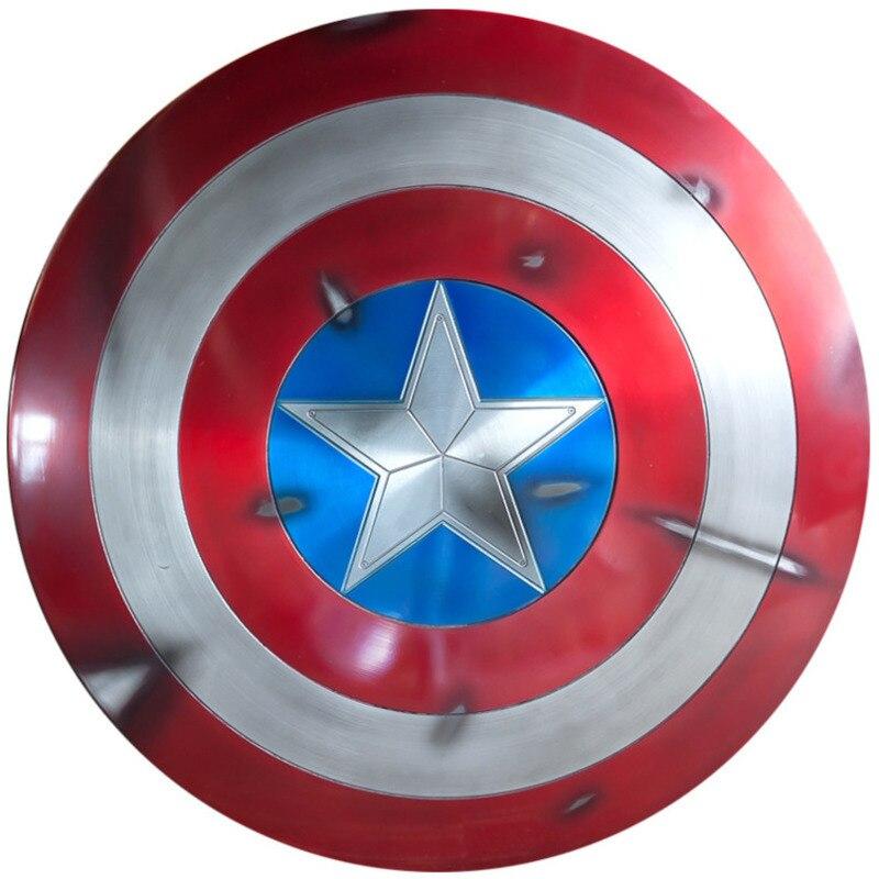 Captain America Shield 1/1 Sh65 Action Figure Movie Periferia Avengers Nuova Versione Steve Rogers Metallo di Alluminio DANNO BATTAGLIA
