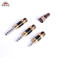 Okcsc The Awesome Rhodium Plugs Set 4 .4mm 3 .5mm 2 .5mm Balanced Audio 4pin Female 3 In 1 Diy Hifi Earhone Cable Kits Adapter