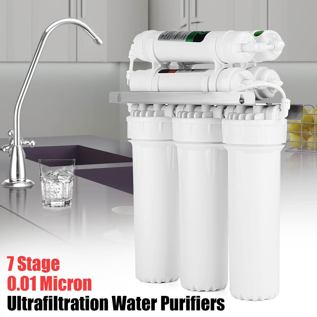 7 Potável palco Sistema De Ultrafiltração Filtros Com Sistema de Filtro de Água UF Casa Purificador de Água Da Cozinha Torneira Tubulação de Água Da Válvula