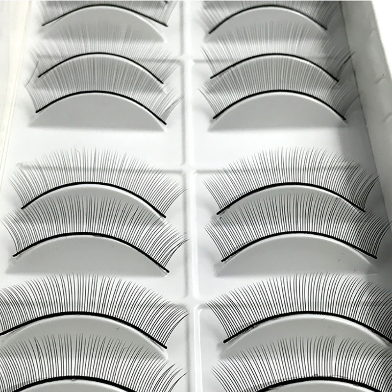 10 pairs Individual False Eyelashes Natural Training Lashes for Eyelash Extension Practicing Teaching in False Eyelashes from Beauty Health