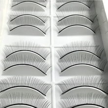 10 pairs Individual False Eyelashes Natural Training Lashes for Eyelash Extension Practicing Teaching