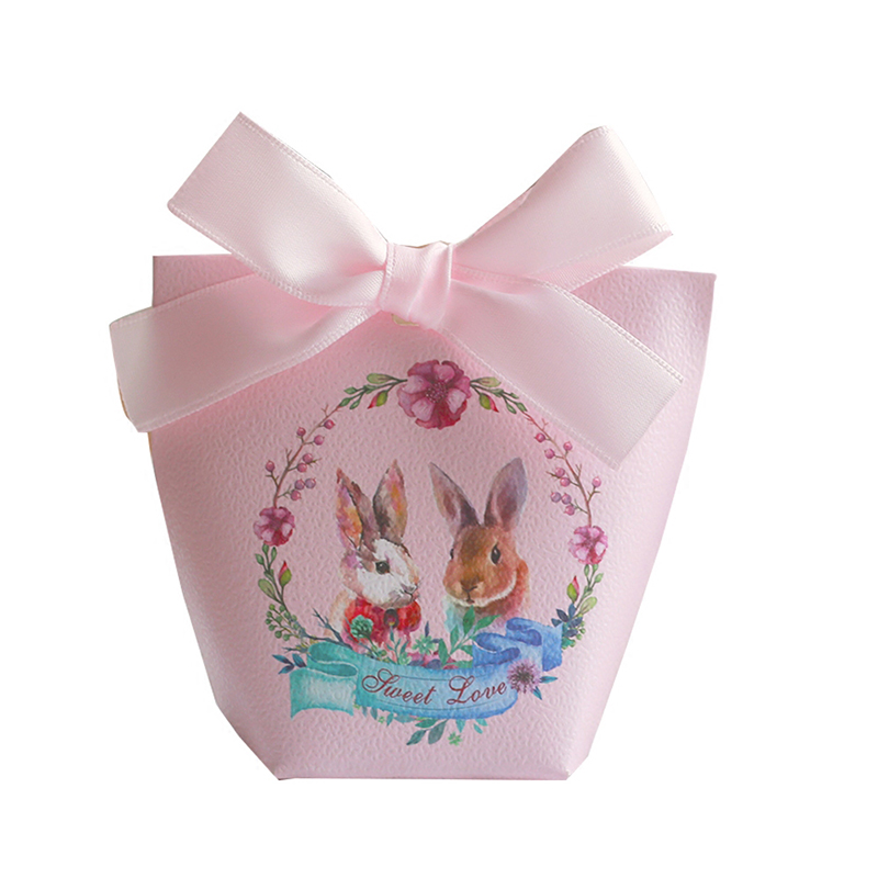 YOURANWISH 20pcs Candy Box Wedding Favors And Gifts Easter Party Decoration Paper Gift Boxes Baby Shower Bags Supplies