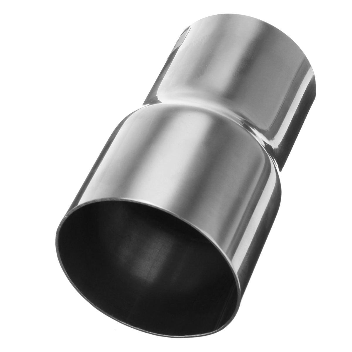 6 boyutu Evrensel Araba Paslanmaz Çelik Standart Egzoz Redüktör Konnektörü Boru Tüp 76mm 63mm 60mm 63mm 57mm 52mm 50mm