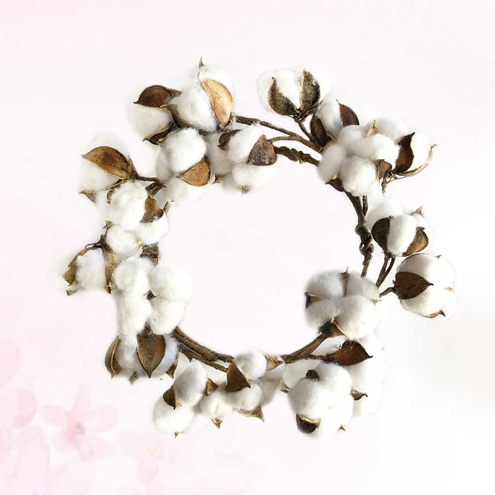 1pc Cotton Wreath Simulation Vintage Handmade Garland Farmhouse Wreath Christmas Decoration For Home Door Wall Aliexpress