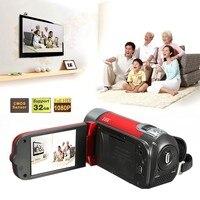 HD Digitale Video Camcorder Camera 16MP 2.7 inch LCD Toccare Schermo 16X Zoom Black Red 11.7x4.8x5.3cm Multiple language
