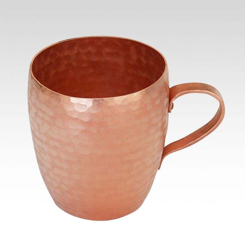 Hanmade épaissi pur cuivre rétro tasse thé violet cuivre bière eau lait vin tasse drinkware vaisselle tasse