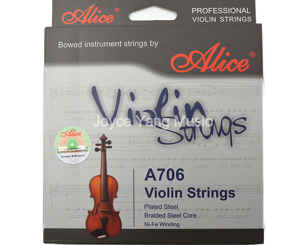 Alice A706 Professional Plated Steel Braided Steel Core Ni Fe Winding Violin Strings 1st 4th Strings Free Shipping|string garter|string curtainstring envelope - AliExpress
