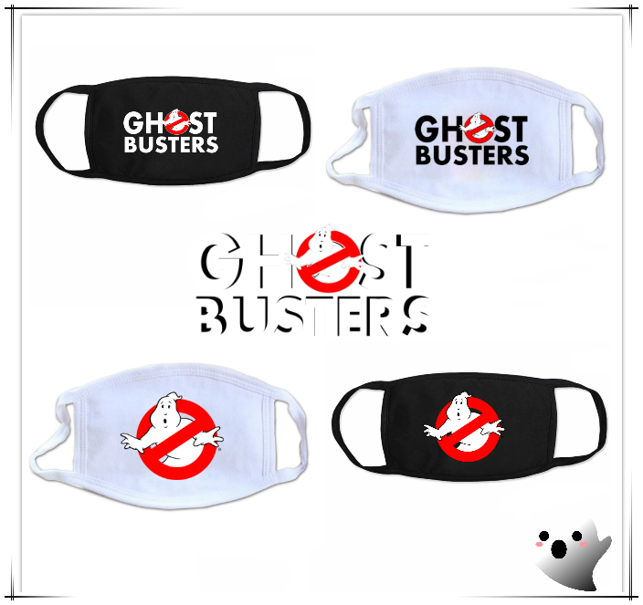 Giancomics Ghostbusters Mask Black White Mouth-muffle Cotton Washable Respirator Decor Economic Trendy Cosplay Half-Face