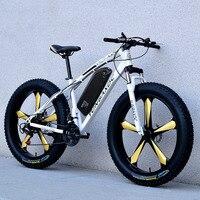 26 дюймов снег Электрический горный велосипед 48 v литиевая Батарея 500 w мотор электровелосипед с толстыми покрышками 4,0 шин Высокая Скорость б