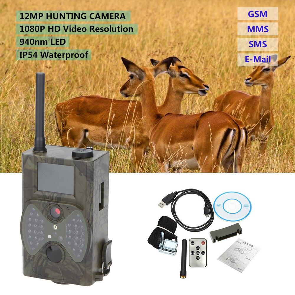 Lixada caméra de chasse 16MP 0.5s déclencheur Photo pièges 1080P vidéo Vision nocturne MMS GPRS infrarouge chasseur caméra caméra de piste