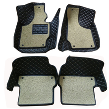 Carnong car mat floor Leather for AUDI TT 4 seat from 2008 2016 full set two layer pls check it carefully with your car modle