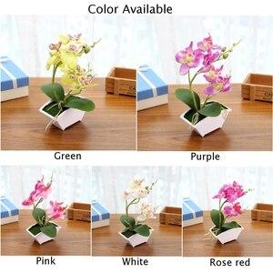 Image 4 - ผ้าไหมดอกไม้สีผีเสื้อประดิษฐ์ปลอมดอกไม้สีเขียวใบพืชดอกไม้Home Decorงานแต่งงาน