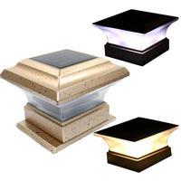 Светильник на солнечной батарее для ограждения пейзаж, световое освещение post cap лампа 28 светодиодов Открытый водонепроницаемый путь Deck ква...