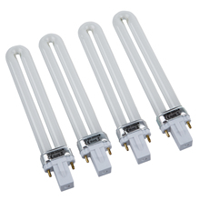 9w Uv Lamp Light Bulb Tube Gel Nail Art Dryer, Set of 4 цена