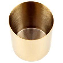 Gold vase round pen holder storage craft decoration