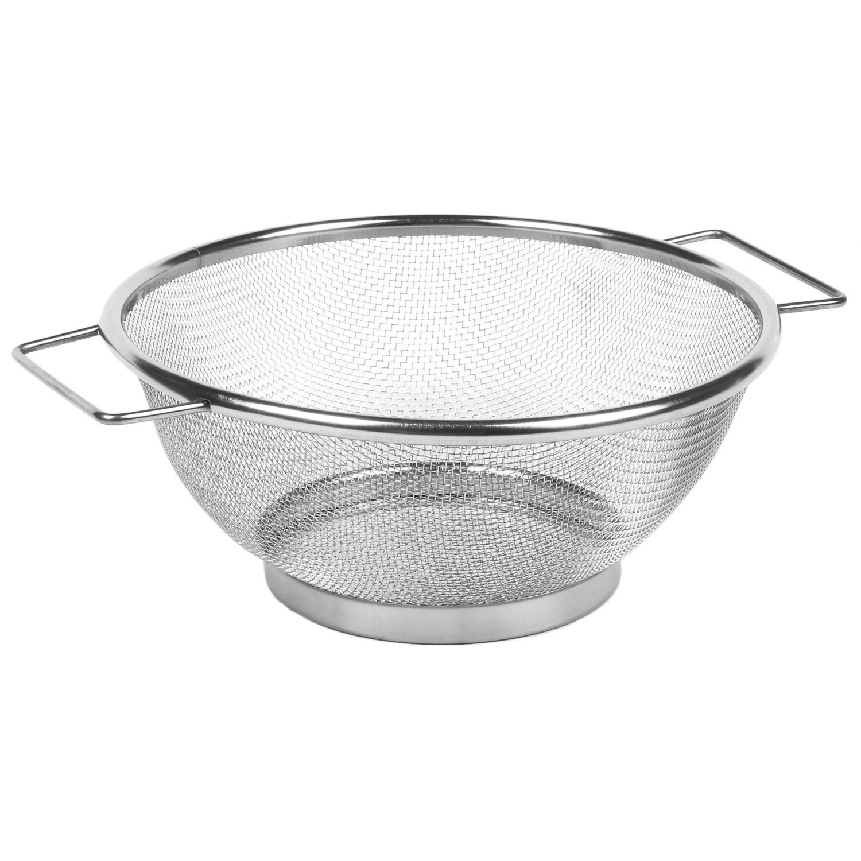 Mesh Stainless Steel Colander Strainer Oil Sieve Flour Sifter Tea Tool Handle P2