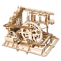Robotime Coaster Magic Creative Marble Run Game Wooden Model Building Kits Assembly Toy Gift For Children Adult Lg502