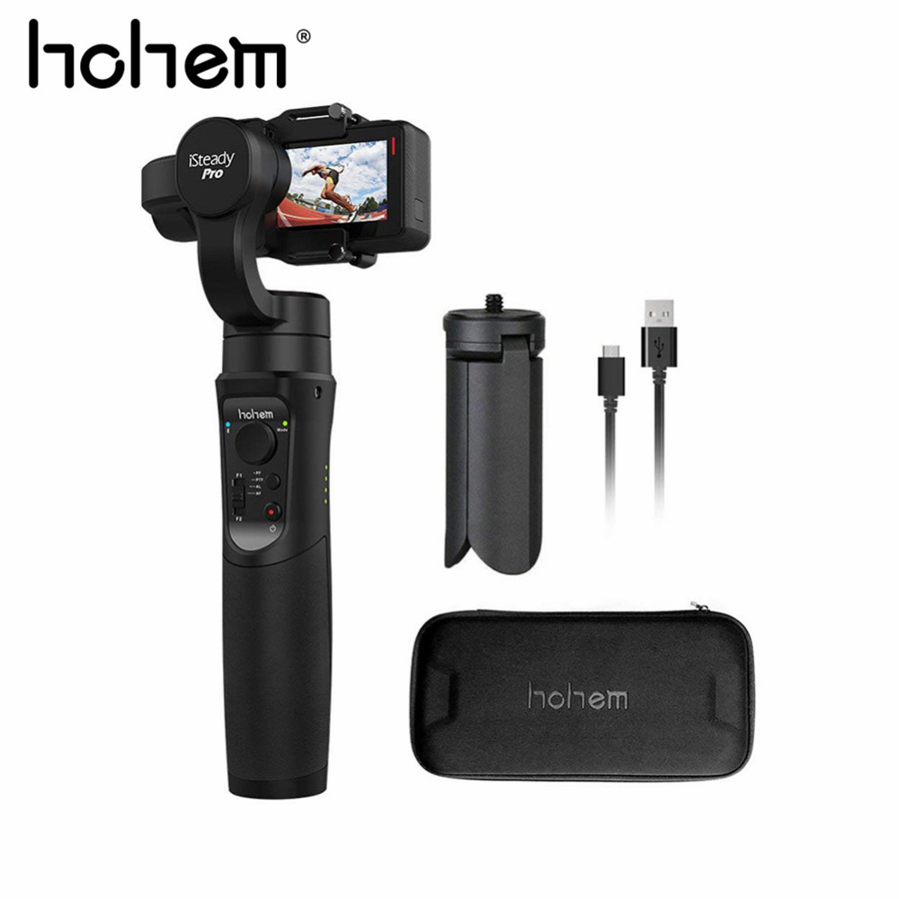 Hohem iSteady Pro 3-axes De Poche stabilisateur de cardan pour Gopro Hero 2018/6/5/4/3 +/3/Yi 4 K/AEE/SJCAM Cames Sport caméra d'action