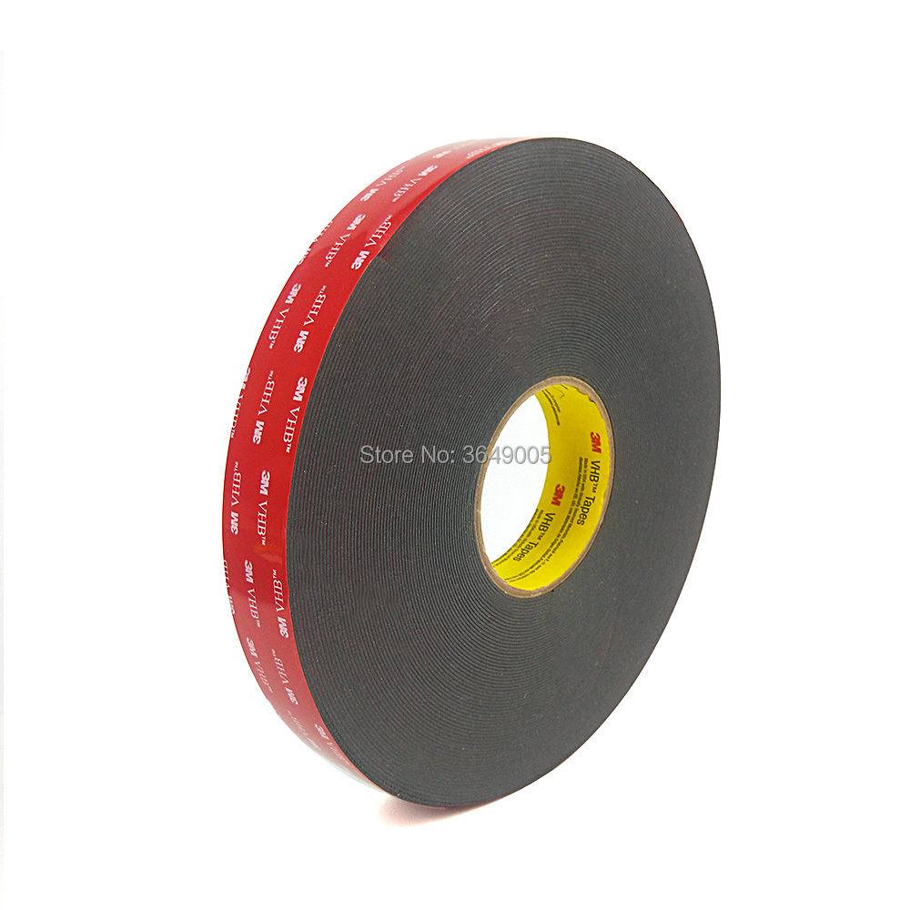 1PCS 3M VHB 5915 Heavy Duty Double Sided Adhesive Acrylic Foam Tape Black 0.4mm Thick