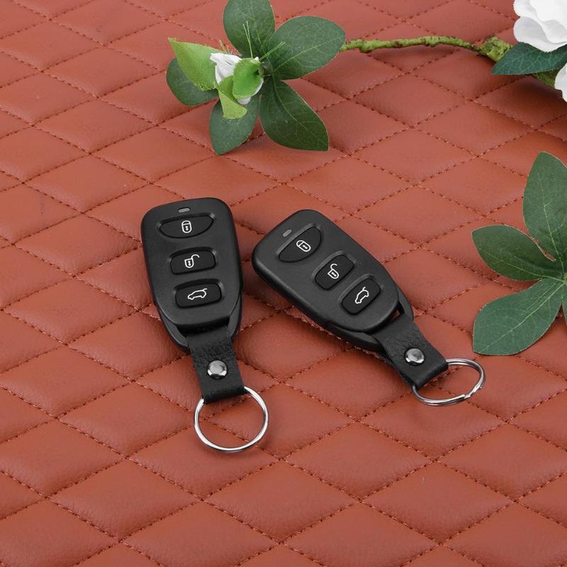 VODOOL 12 V Auto voiture télécommande centrale serrure de porte verrouillage véhicule sans clé entrée système d'alarme de sécurité avec télécommande