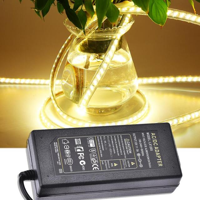 12V 5A LED Sürücü AC 100 V 240 V 12V 5A 60W LED şerit aydınlatma Transformers güç adaptörü güç Kaynağı için Imax LED 5050 2835