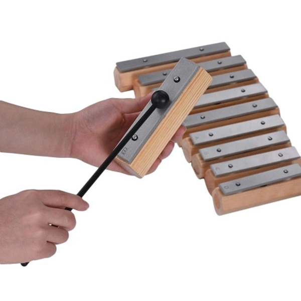 10 Notes Xylophone Glockenspiel Disconnect Type Design For Musical Education Rhythm Training With Wooden Carry Case Mallets