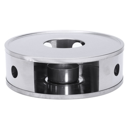Świeca podstawa podgrzewacz srebrny okrągły czajnik do kawy cieplej Trivets naczynie ze stali nierdzewnej praktyczne
