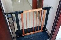 Большая распродажа! Твердые деревянные детские ворота забор детские ворота барьер лестничные ворота Pet 75 82 см 3 цвета быстрая доставка