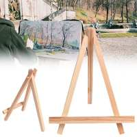 10pcs Wooden Small Timber Easels School Photo Art Painting Display Rack Stand Holder Wedding Table Card Holder Party Decoration