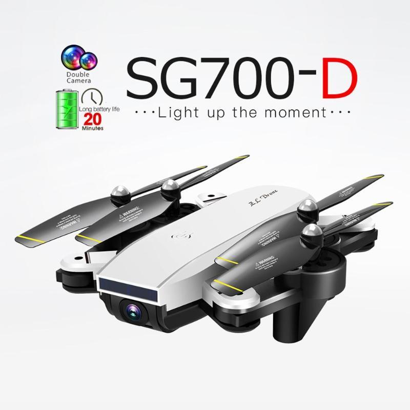 SG700-D Drone 2.4 Ghz 4CH Large-angle WiFi 1080 P Optique Flux Double Caméra RC Hélicoptère RC Quadcopter Selfie drone avec Caméra HD