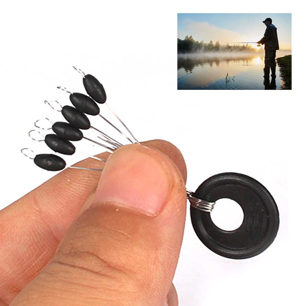 10 piezas de pesca Bobber tapón flotador línea de forma de oliva Stoppers Stop Space Bean nuevo