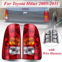 Left Right Side Red Tail font b Lamp b font For Toyota Hilux 2005 2006 2007