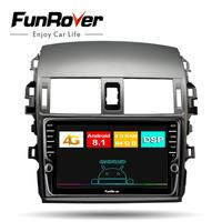 Funrover 8 cores Android 8.1 Car Radio Multimedia dvd gps player For Toyota Corolla E140/150 2008 2013 stereo navigation 4G+64G