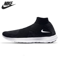 Nike Original Women's NIKE FREE RN MOTION FK Breathable Running Shoes Lightweight Sneakers New Arrival #880846 003
