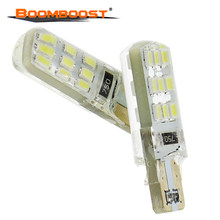2pcs/lot Bright T10 LED 12W led 18LED Car Interior Bulbs Light Parking Width Lamps 194 168 W5W(China)