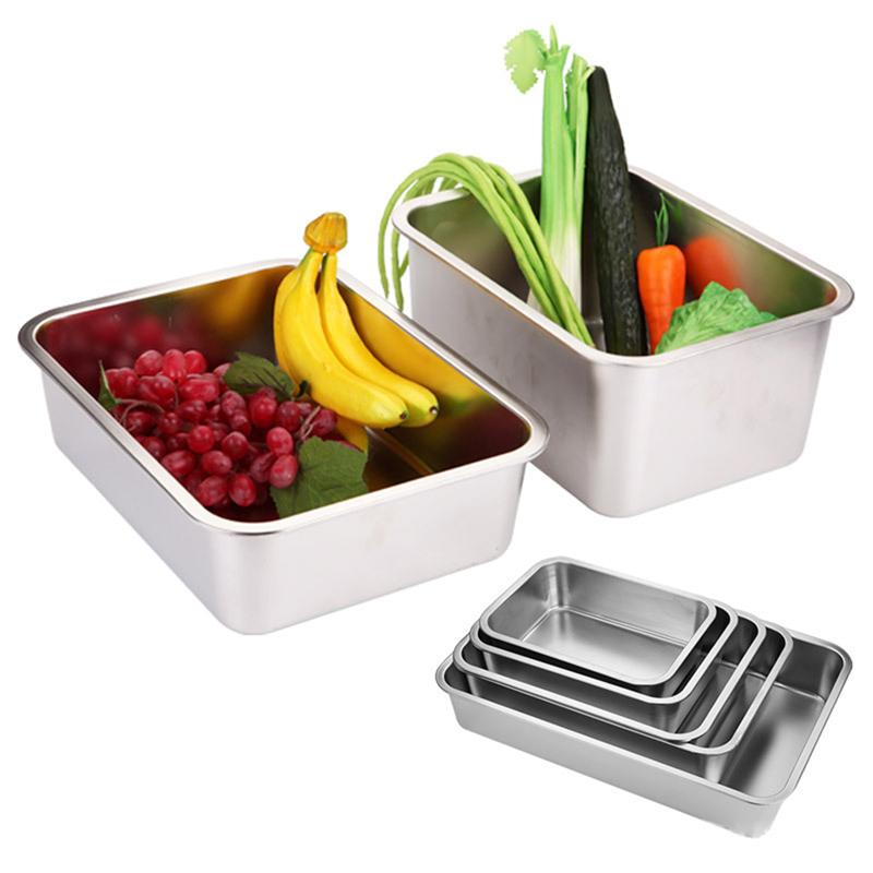 3 pièces plat profond électrolytique en acier inoxydable plat carré Non magnétique lave-vaisselle