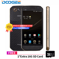 DOOGEE S30 IP68 Waterproof 5580mAh Side fingerprint Dual camera 5V/2A 5.0&quotHD Android 7.0 2GB RAM 16GB ROM Smartphone MTK6737