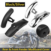 1Set Motorcycle Tail Mudguard Cover Waterproof splash Rear & Front For Fender Cover For CG125 Retro modification