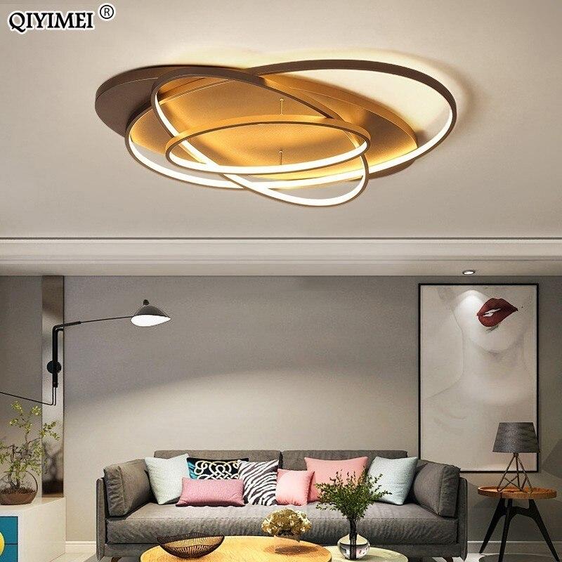 Oval Led Ceiling Lights Luminaire Plafonnier For Living Room Kitchen Bedroom Lampen Modern Light Fixtures Verlichting AC85-260V