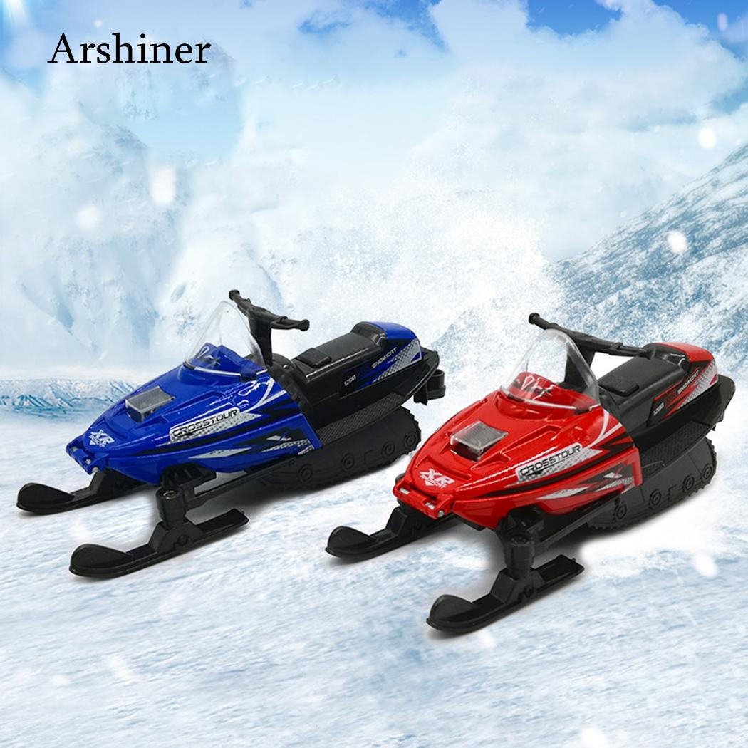 US $8 55 32% OFF|Snowmobile Car Motorcycle Alloy Snow Motos light&music  sound pull back car toy for kids snowmobile skimobile snowcat-in Diecasts &
