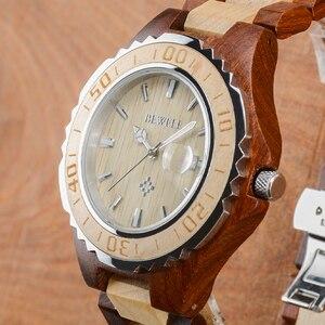 Image 5 - 나무 애호가 커플 시계 럭셔리 듀얼 시계 달력과 연인 친구를위한 선물로 빛나는 두 시계 bewell 100bc
