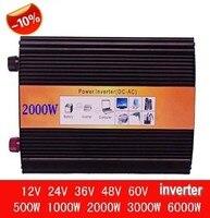 Hot Sale solar inverter 2000w peak 4000watt pure sine wave off grid tie inverters dc 12v24v48V input to ac 220v output