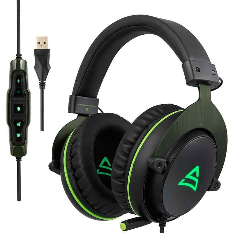 G817 Surround Bass Musik Stereo Gaming Headset Over-Ear Headphone