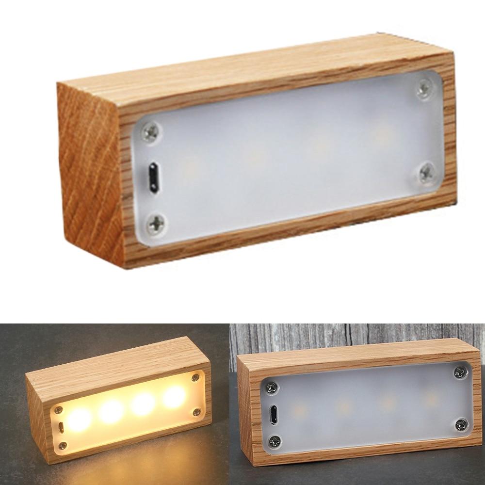Usb Rechargeable Creative Led Wooden Drawer Box Shape Light Desk Night Lamp Night Light Led Night Lamp
